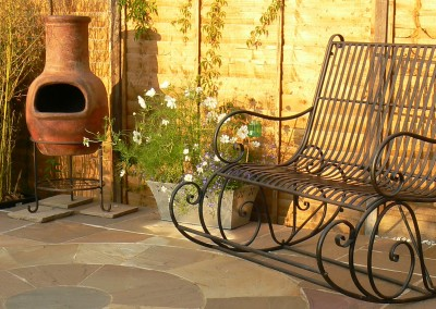 Stylish design for urban garden
